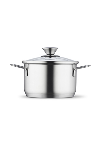 High casserole 16 cm with lid