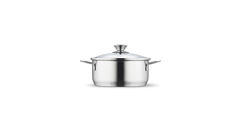 Low casserole 20 cm with lid
