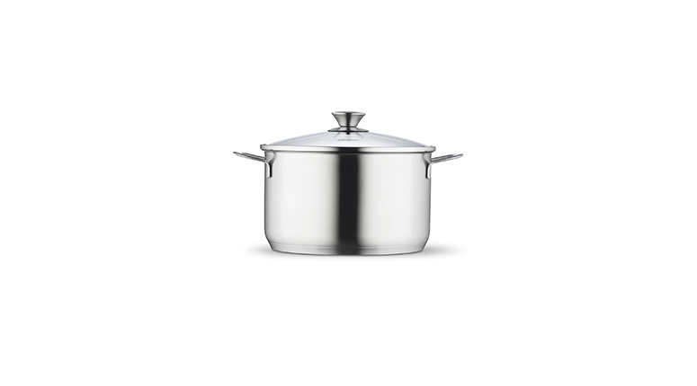 Low casserole 24 cm with lid